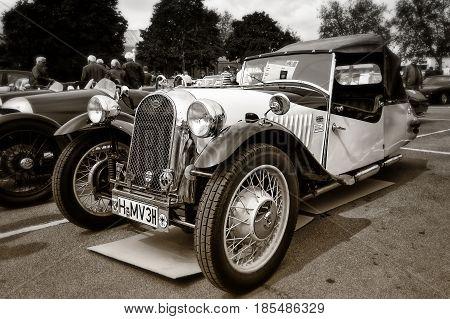 Berlin - May 11: Car Morgan, F-series Three-wheelers (sepia), 26Th Oldtimer-tage Berlin-brandenburg,