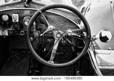 Berlin - May 11: Cab Car Morgan, V-twin Three-wheelers (black And White), 26Th Oldtimer-tage Berlin-