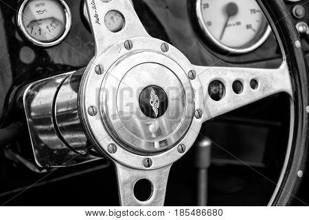 Berlin - May 11: Cab Morgan Plus 4, (black And White), 26Th Oldtimer-tage Berlin-brandenburg, May 11