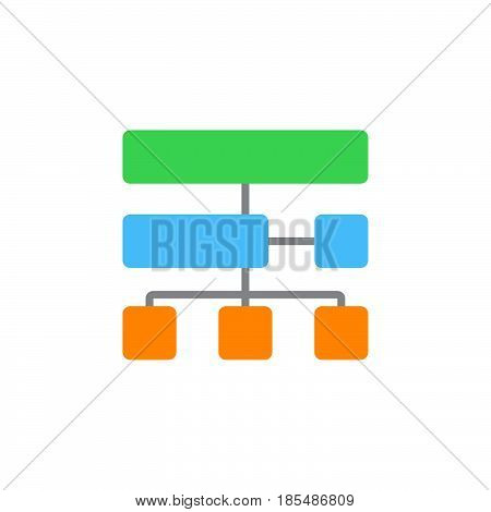 site map icon vector solid sign colorful pictogram isolated on white logo illustration
