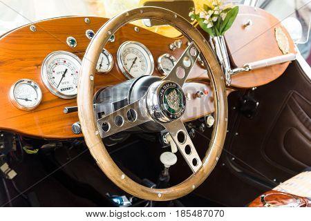 Berlin - May 11: Cab Car Jaguar Ss-100 Roadster, 26Th Oldtimer-tage Berlin-brandenburg, May 11, 2013