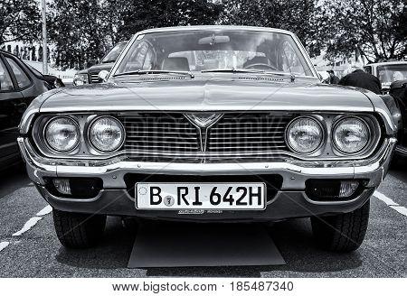 Berlin - May 11: Car Mazda 929 (rx-4) Hardtop (black And White), 26Th Oldtimer-tage Berlin-brandenbu