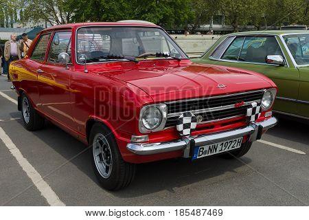 Berlin - May 11: Car Opel Kadett B 2-door Limousine, 26Th Oldtimer-tage Berlin-brandenburg, May 11,