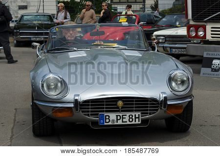 Berlin - May 11: British Sports Car Jaguar E-type, 26Th Oldtimer-tage Berlin-brandenburg, May 11, 20