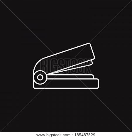 Stapler Thin Line Icon, Outline Vector Logo Illustration, Linear Pictogram Isolated On Black