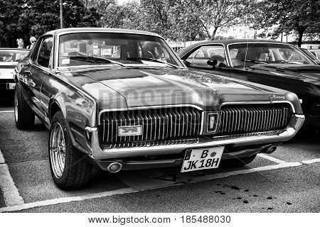 Berlin - May 11: Car Mercury Cougar (black And White), 26Th Oldtimer-tage Berlin-brandenburg, May 11