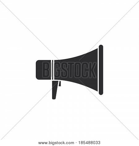 Megaphone Icon Vector, Bullhorn Solid Logo Illustration, Pictogram Isolated On White