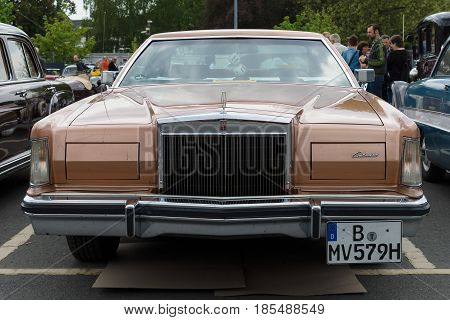BERLIN - MAY 11: Car Lincoln Continental Mark V 26th Oldtimer-Tage Berlin-Brandenburg May 11 2013 Berlin Germany