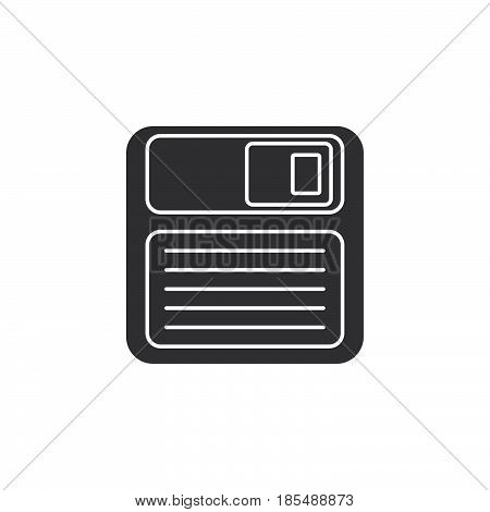 Save Icon Vector, Floppy Disk Solid Logo Illustration, Pictogram Isolated On White