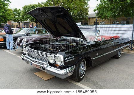 Berlin - May 11: Full-size Car Chevrolet Impala Ss Convertible, 26. Oldtimer-tage Berlin-brandenburg