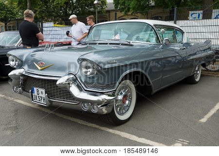 Berlin - May 11: Full-size Luxury Car Cadillac Sixty-two Coupe De Ville, 26Th Oldtimer-tage Berlin-b