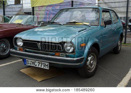 Berlin - May 11: The Subcompact Car Honda Civic 1976, 26Th Oldtimer-tage Berlin-brandenburg, May 11,