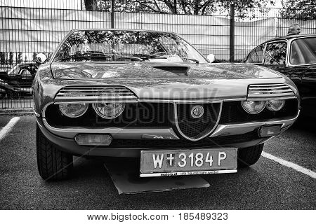 Berlin - May 11: Sport Car Alfa Romeo Montreal, Front View (black And White), 26Th Oldtimer-tage Ber