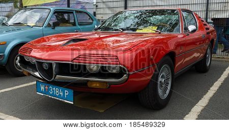 Berlin - May 11: Sport Car Alfa Romeo Montreal, Front View, 26Th Oldtimer-tage Berlin-brandenburg, M