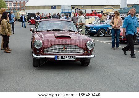 Berlin - May 11: A Sports Car Aston Martin Db4 (superleggera), 26Th Oldtimer-tage Berlin-brandenburg