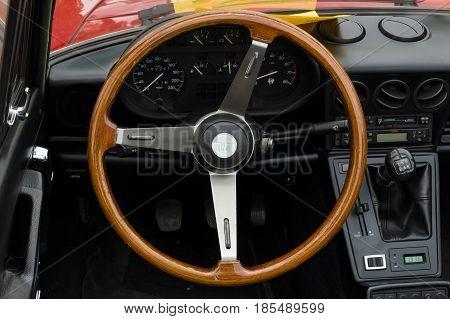 Berlin - May 11: Cab Sports Car Alfa Romeo Spider 2.0, 26Th Oldtimer-tage Berlin-brandenburg, May 11