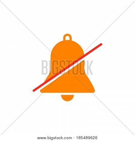 Strikeout Bell Icon Vector, Alarm Mute Solid Logo Illustration, Pictogram Isolated On White