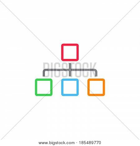 Sitemap Line Icon, Chart Outline Vector Logo, Linear Pictogram Isolated On White, Pixel Perfect Illu