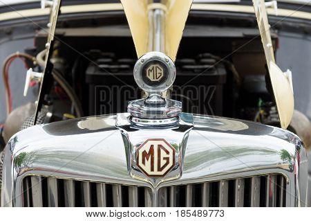 BERLIN - MAY 11: Radiator roadster MG TD Midget 1951 26th Oldtimer-Tage Berlin-Brandenburg May 11 2013 Berlin Germany