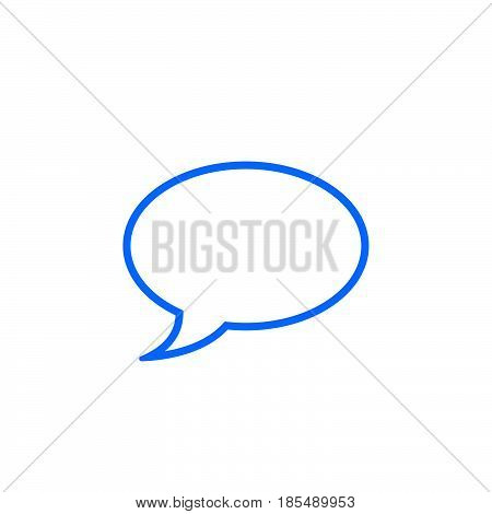 Comment Line Icon, Speech Bubble Outline Vector Logo Illustration, Linear Pictogram Isolated On Whit