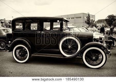 Berlin - May 11: Vintage Car Ford Model A (sepia), 26Th Oldtimer-tage Berlin-brandenburg, May 11, 20
