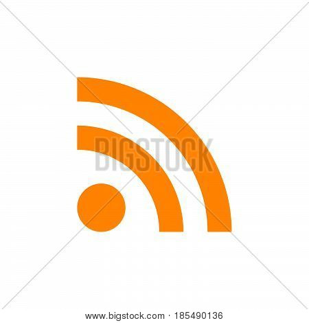 Feed Icon Vector, Rss Solid Logo Illustration, Colorful Pictogram Isolated On White