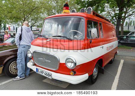 Berlin - May 11: Fire Engine Barkas B1000, 26Th Oldtimer-tage Berlin-brandenburg, May 11, 2013 Berli