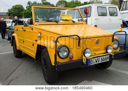 Berlin - May 11: Military Vehicle Volkswagen Type 181 (lhd), 26Th Oldtimer-tage Berlin-brandenburg,