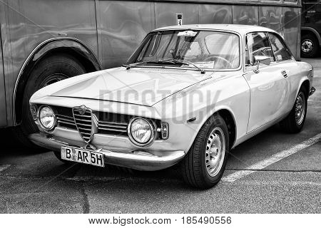 Berlin - May 11: The Two-door Coupe Alfa Romeo Gt 1300 Junior (black And White), 26Th Oldtimer-tage