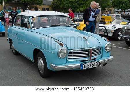 Berlin - May 11: Car Goliath 1100, 2-door Saloon, 26Th Oldtimer-tage Berlin-brandenburg, May 11, 201