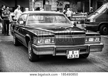 Berlin - May 11: Car Cadillac Deville Le Cabriolet (black And White), 26Th Oldtimer-tage Berlin-bran
