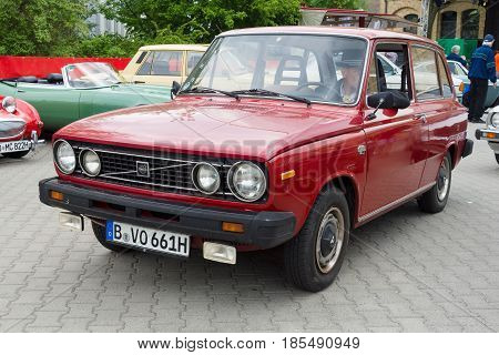 Berlin - May 11: The Compact Car Volvo 66Dl, 26Th Oldtimer-tage Berlin-brandenburg, May 11, 2013 Ber