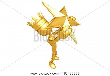 King With A Star The Original 3D Character Illustration