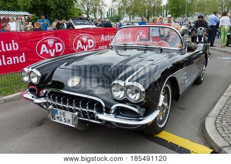 Berlin - May 11: Sport Car Chevrolet Corvette (c1), 26Th Oldtimer-tage Berlin-brandenburg, May 11, 2