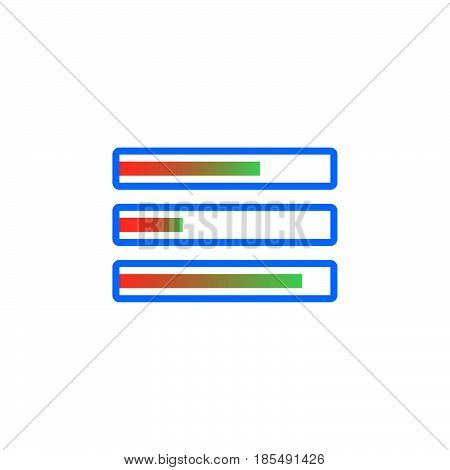 Task Bars Icon Vector, Solid Logo Illustration, Colorful Pictogram Isolated On White