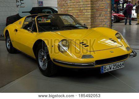 BERLIN - MAY 11: Sports Car Ferrari Dino 246 GTS 26th Oldtimer-Tage Berlin-Brandenburg May 11 2013 Berlin Germany