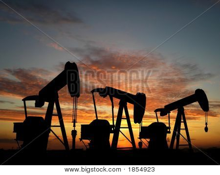 Sihouette Three Oil Pumps