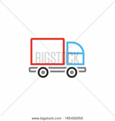 Lorry Line Icon, Truck Outline Vector Logo Illustration, Linear Pictogram Isolated On White