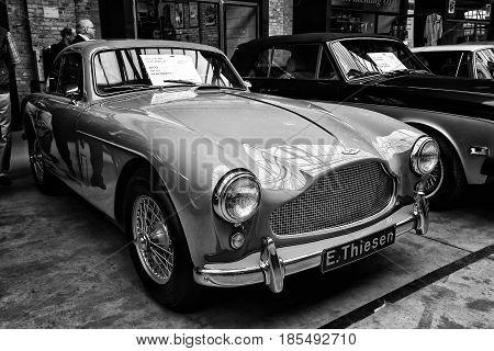 Berlin - May 11: A Sports Car Aston Martin Db Mark Iii (black And White), 26Th Oldtimer-tage Berlin-