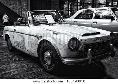 Berlin - May 11: Sports Car, Datsun 1600 Fairlady, (black And White), 26Th Oldtimer-tage Berlin-bran