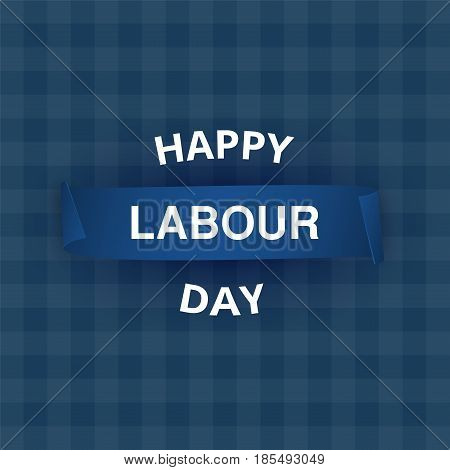 Happy Labour day. 1st may poster banner.