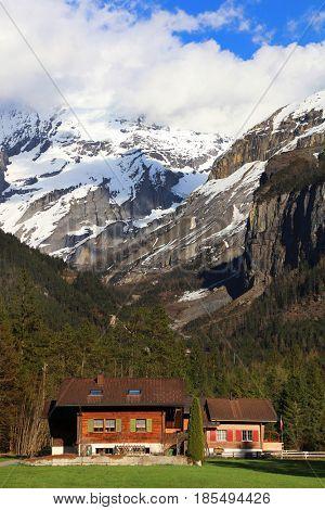 Kandersteg Resort, Canton Bern in Switzerland, Europe