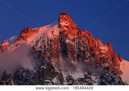 Aiguille du Midi in Haute Savoie, France, Europe