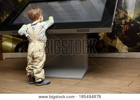Child Learning Touch Screen