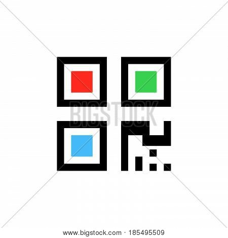 Qr Code Icon Vector, Solid Logo Illustration, Colorful Pictogram Isolated On White