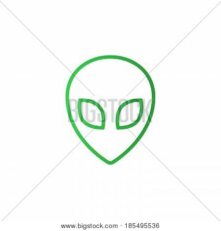 Alien Line Icon, Outline Vector Logo Illustration, Linear Pictogram Isolated On White