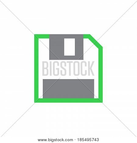 Save Icon Vector, Diskette Solid Logo Illustration, Colorful Pictogram Isolated On White