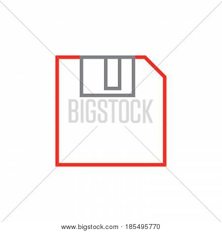 Save Line Icon, Diskette Outline Vector Logo Illustration, Linear Pictogram Isolated On White