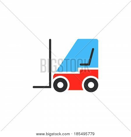 Forklift Icon Vector, Lift Truck Solid Logo Illustration, Colorful Pictogram Isolated On White