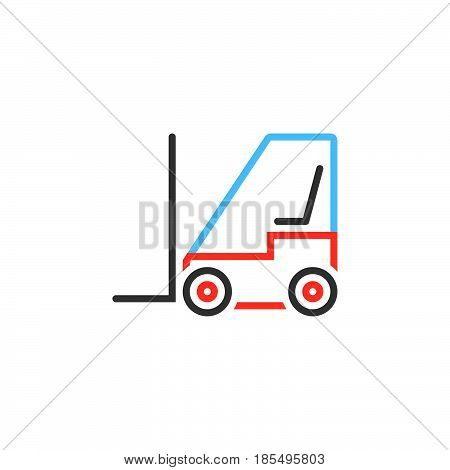 Forklift Line Icon, Lift Truck Outline Vector Logo Illustration, Linear Pictogram Isolated On White